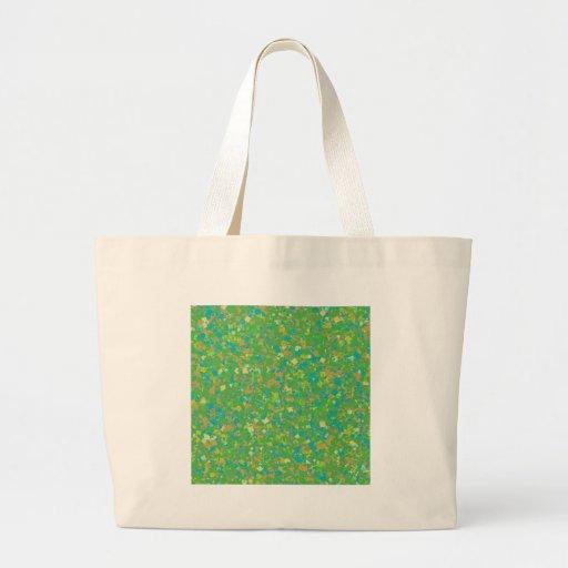 La PLANTILLA verde elegante del confeti añade la Bolsas