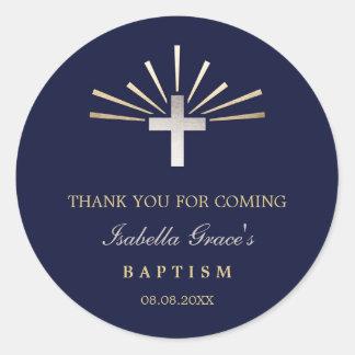 La plata del oro y el bautismo del azul el | le pegatina redonda