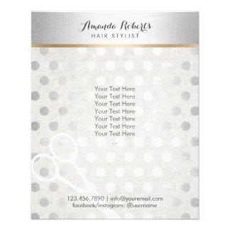 La plata elegante del estilista puntea el lino folleto 11,4 x 14,2 cm