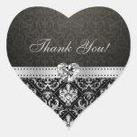 La plata elegante y el damasco negro le agradecen colcomanias de corazon