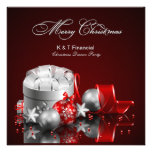 La plata elegante y la fiesta de Navidad roja invi Comunicados Personales