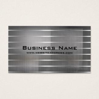 La plata moderna raya tarjetas de visita