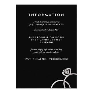 La plata moderna suena la tarjeta de información invitación 11,4 x 15,8 cm