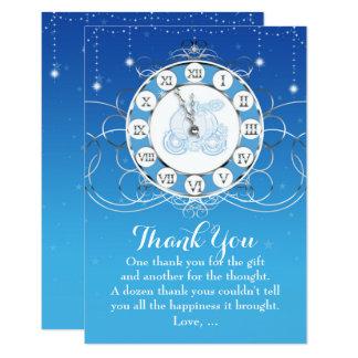 La plata y el azul casi de medianoche de invitación 8,9 x 12,7 cm