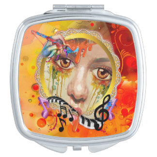 La plataforma del artista espejos compactos