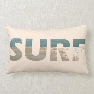 Cojín Lumbar La playa agita la almohada de tiro de la resaca