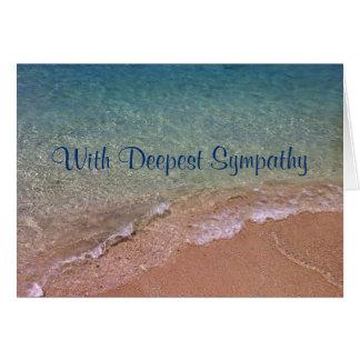 La playa agita la tarjeta de condolencia