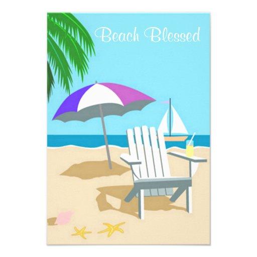 La playa bendecida invita invitación personalizada