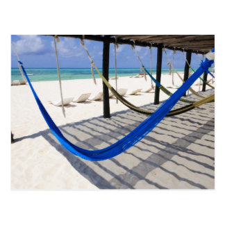 La playa colorida cuelga la postal de Cozumel de