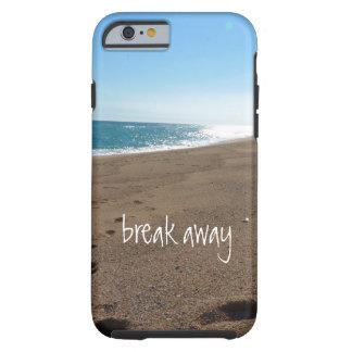 La playa con rompe lejos cita funda para iPhone 6 tough