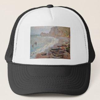 La playa en Etretat - Claude Monet Gorra De Camionero