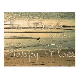 La playa es mi lugar feliz postal