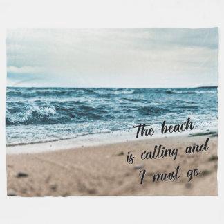 La playa está llamando y debo ir manta polar