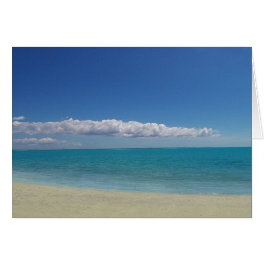 La playa perfecta tarjeta de felicitación