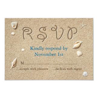 La playa Sandy toca con la punta del pie los besos Invitación 8,9 X 12,7 Cm