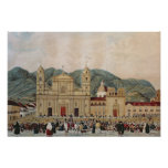 La plaza de Bolivar, Bogotá, 1837 Posters