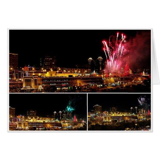 La plaza de Kansas City enciende el collage, Tarjeta De Felicitación