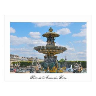 La plaza de la Concordia, París Postal