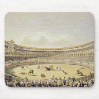 La plaza de Toros de Madrid, 1865 (litho del color Alfombrilla De Ratón