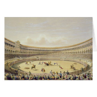 La plaza de Toros de Madrid, 1865 (litho del color Felicitaciones