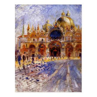 La plaza San Marco de Pierre-Auguste Renoir Postal