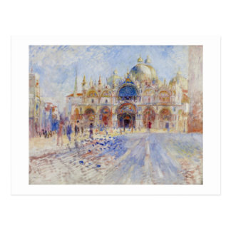 La plaza San Marco, Venecia, 1881 (aceite en lona) Postal
