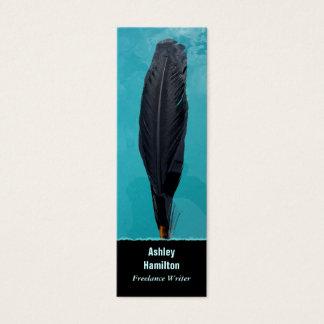 La pluma del cuervo tarjeta de visita mini