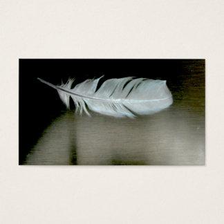 La pluma empluma tarjetas de visita naturales del