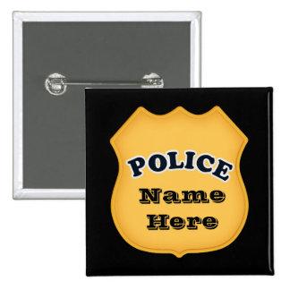 La policía Badge añade el botón conocido
