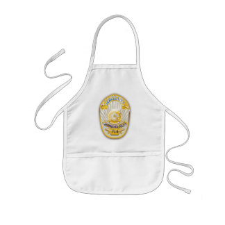 La policía de Los Ángeles California Badge. Delantal Infantil