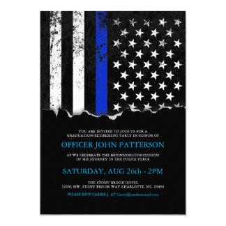 La policía diseña la invitación de la bandera invitación 12,7 x 17,8 cm