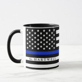 La policía diseñó nombre del personalizado de la taza