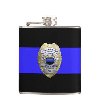 La policía jubilada divertida fina de Blue Line Petaca