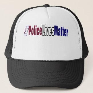 # la policía vive materia gorra de camionero