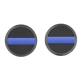 La policía y LEO enrarecen Blue Line Gemelos Metalizados