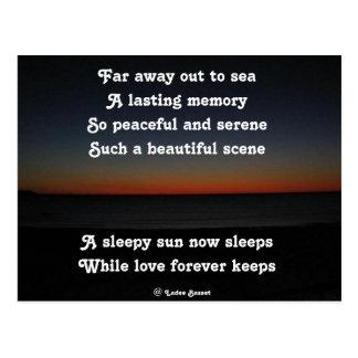 La postal al Sun soñoliento duerme poema por el af