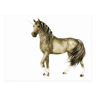 la postal de oro del unicornio