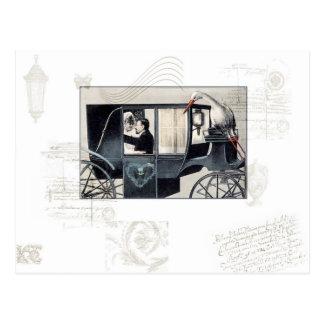 La postal del carro del boda