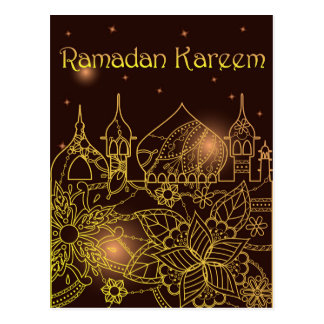 La postal del Ramadán Kareem con easten la ciudad
