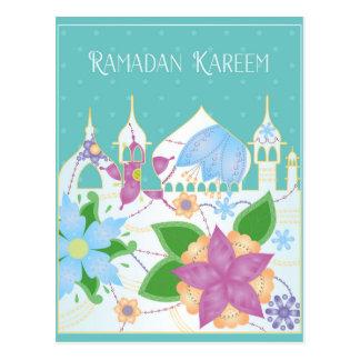 La postal del Ramadán KAreem easten la ciudad