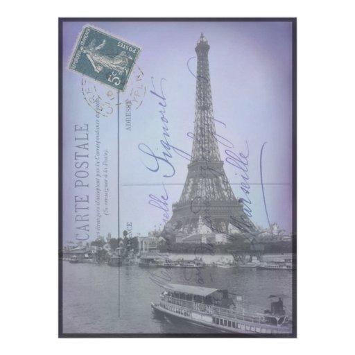 La postal francesa de la feria de mundo de París i Anuncios