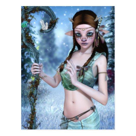 La postal joven del druida