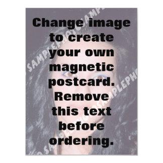 La postal magnética personalizada de la foto hace