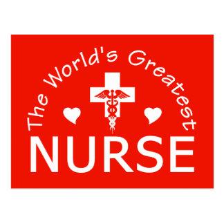 La postal más grande de la enfermera del mundo,