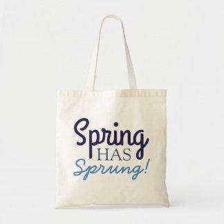¡La primavera azul de la diversión ha saltado! - Bolso De Tela