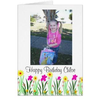 La primavera brillante florece el regalo de tarjeta de felicitación