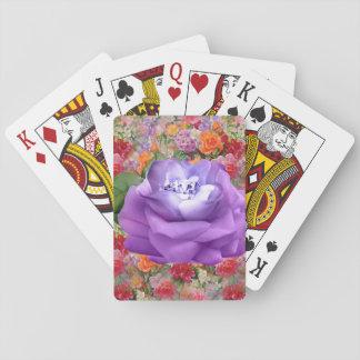 La primavera colorida florece el diamante de la baraja de cartas