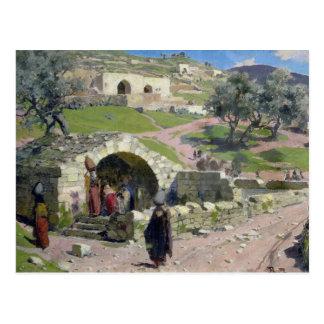 La primavera de la Virgen en Nazaret, 1882 Postal