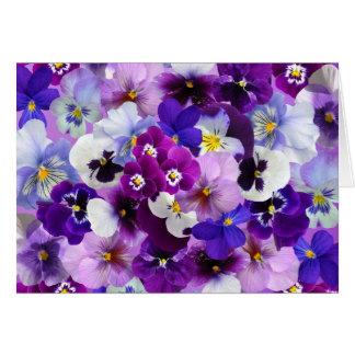 La primavera de los pensamientos florece la tarjeta de felicitación
