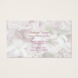 La primavera en colores pastel florece el primer tarjeta de negocios